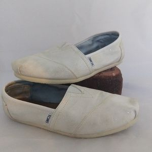 Toms Sparkle Bridal White Shoes 10